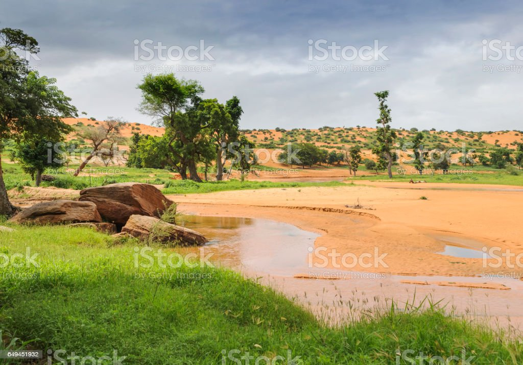 Landscape of Mali stock photo