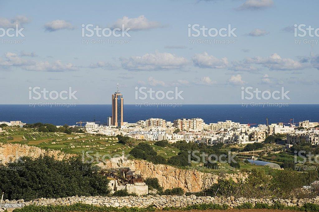 Landscape of Malta stock photo