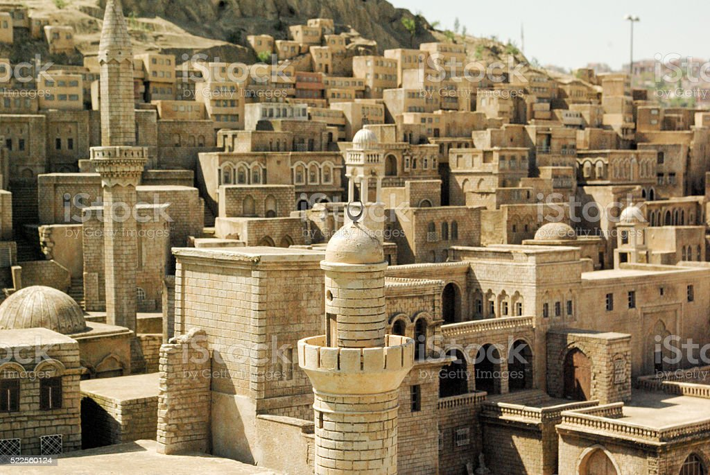 Landscape of Mardin stock photo