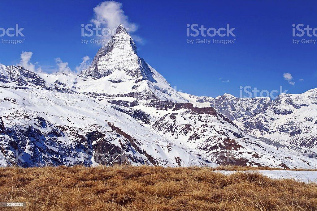 Landscape of Matterhorn peak royalty-free stock photo