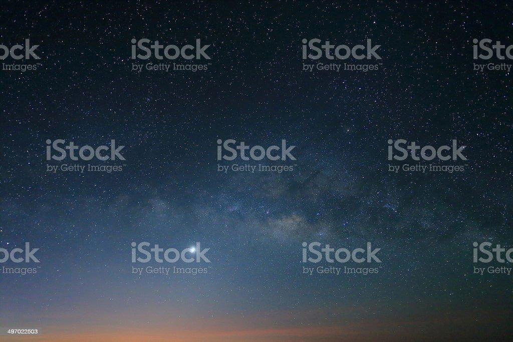 Landscape of Milky Way royalty-free stock photo