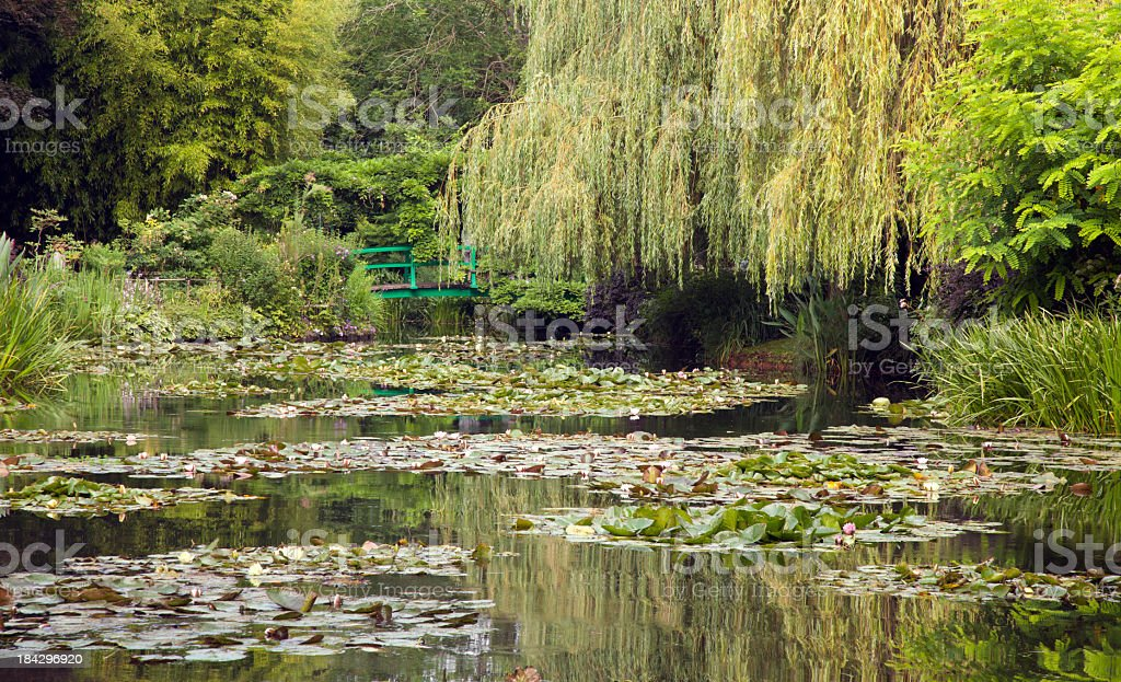 Landscape of Monet`s garden, Giverny, France stock photo