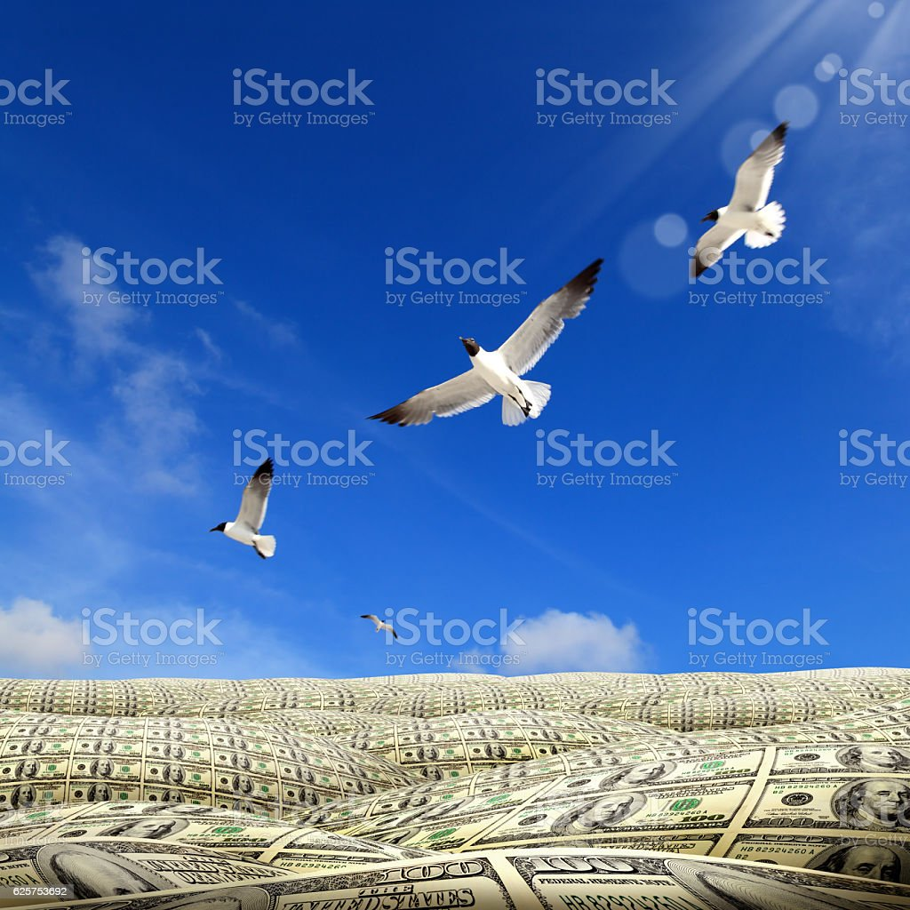 landscape of money stock photo