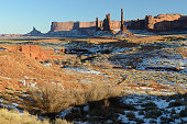 Landscape of Monument Valley at Totem Pole