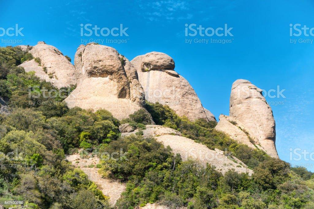 Landscape of mountain Montserrat stock photo