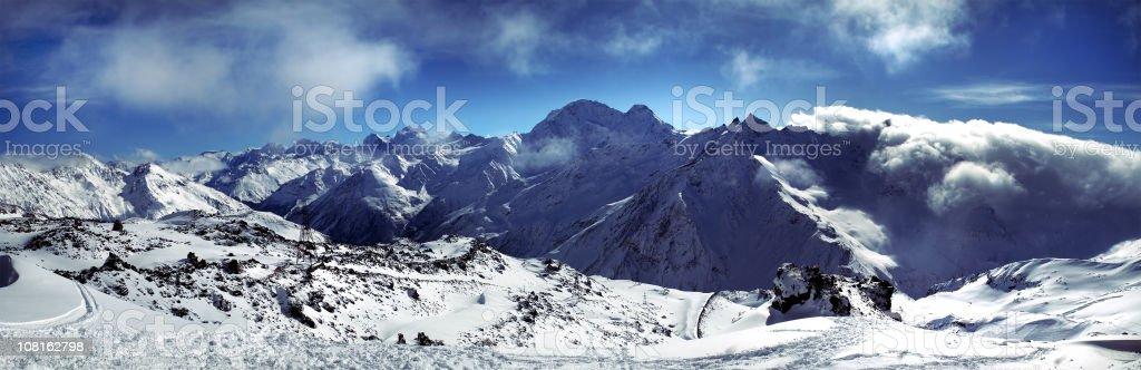 Landscape of Mountain Range royalty-free stock photo