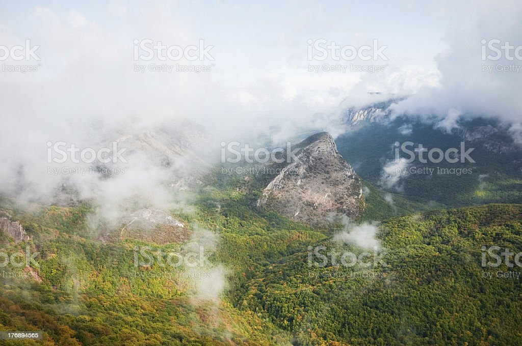 landscape of mountains and clouds royalty-free stock photo