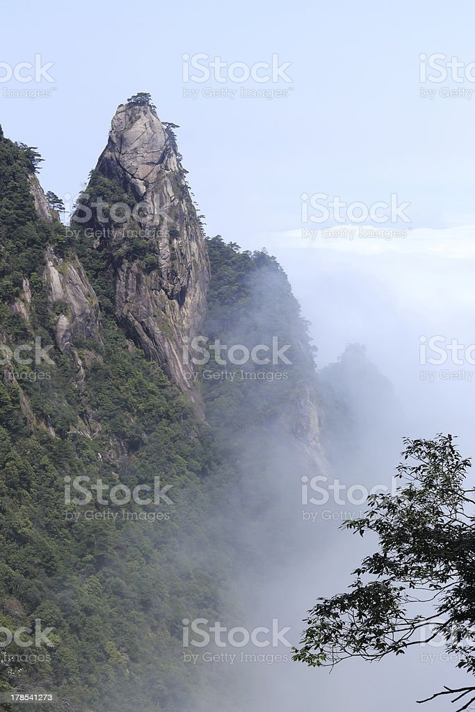 landscape of mountains royalty-free stock photo