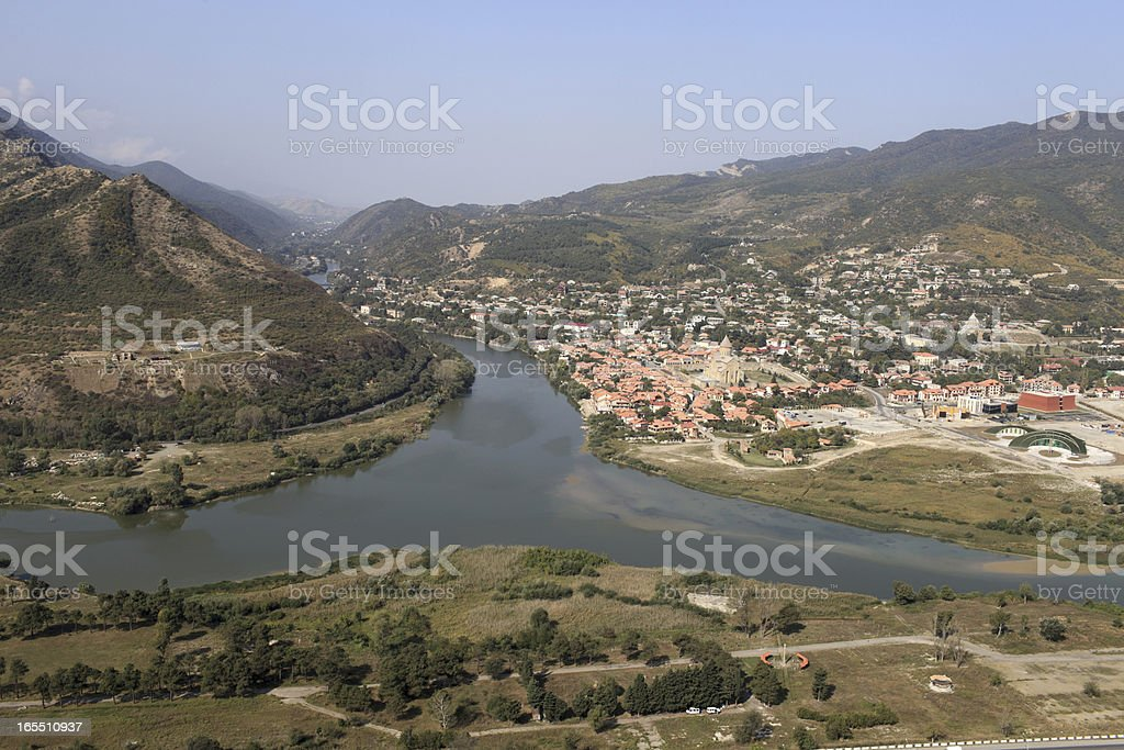 Landscape of Mtskheta royalty-free stock photo