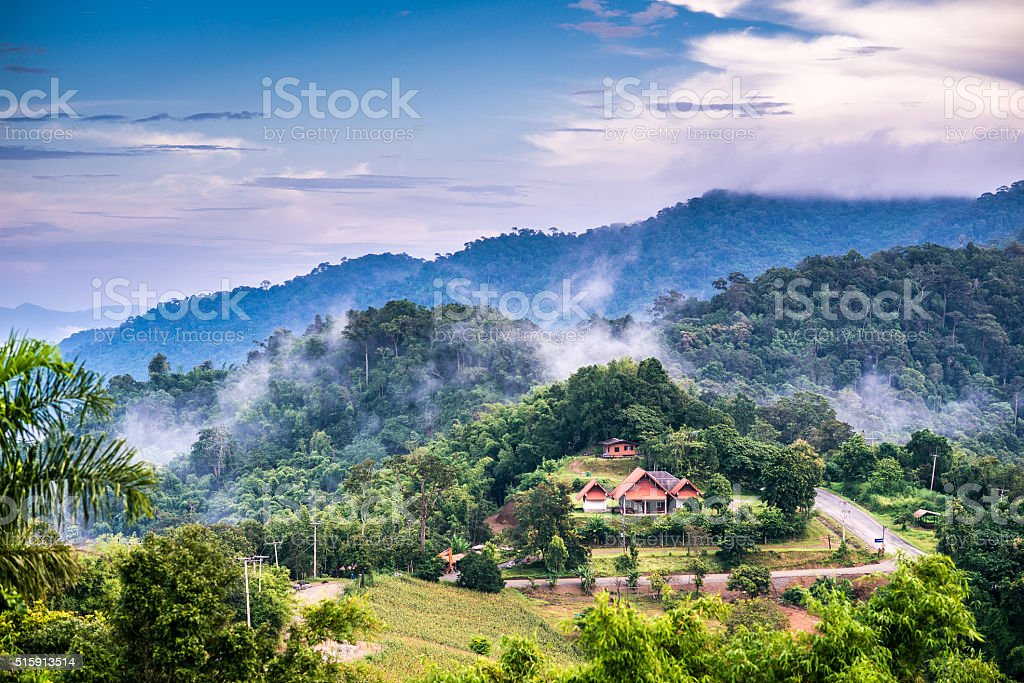 Landscape of National Park in Nan province, Thailand stock photo