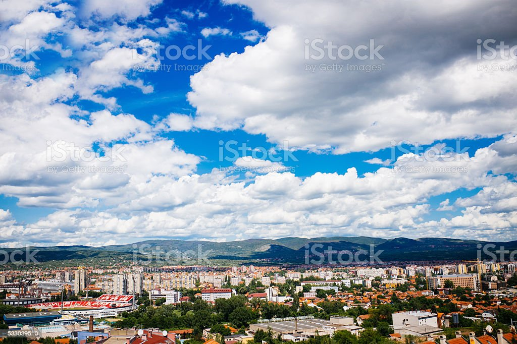 Landscape of Nis, Serbia stock photo