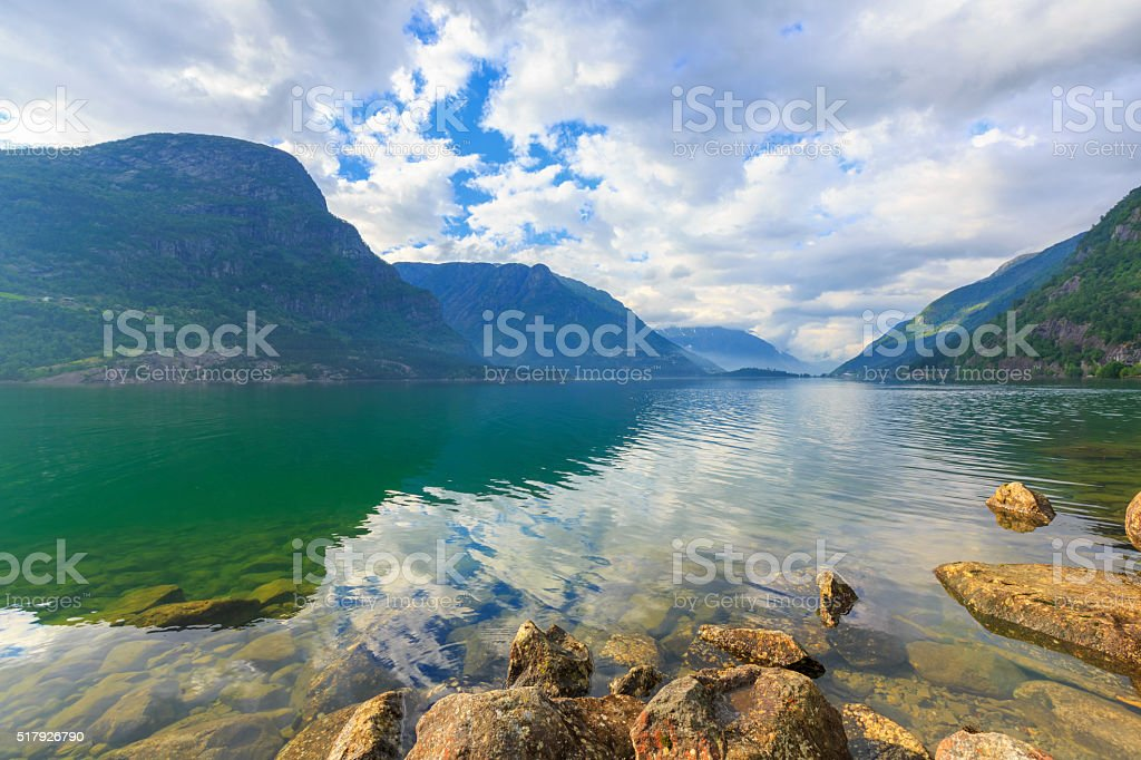 Landscape of Norway, Hordaland County stock photo