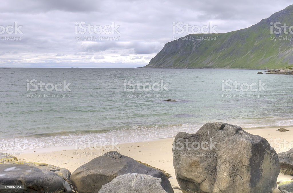 HDR landscape of Norwegian fjord royalty-free stock photo