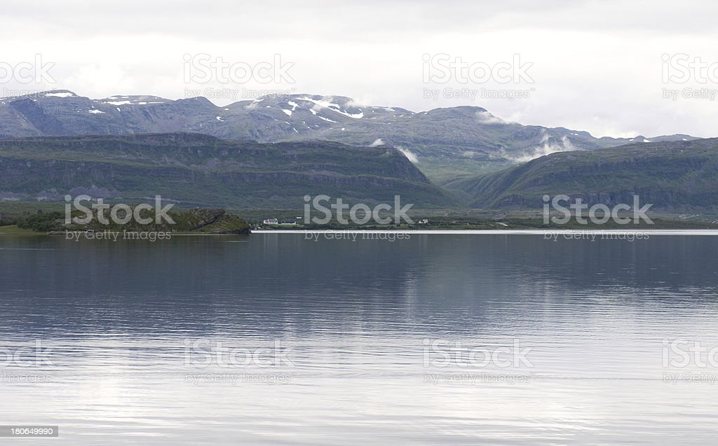 landscape of Norwegian fjord royalty-free stock photo
