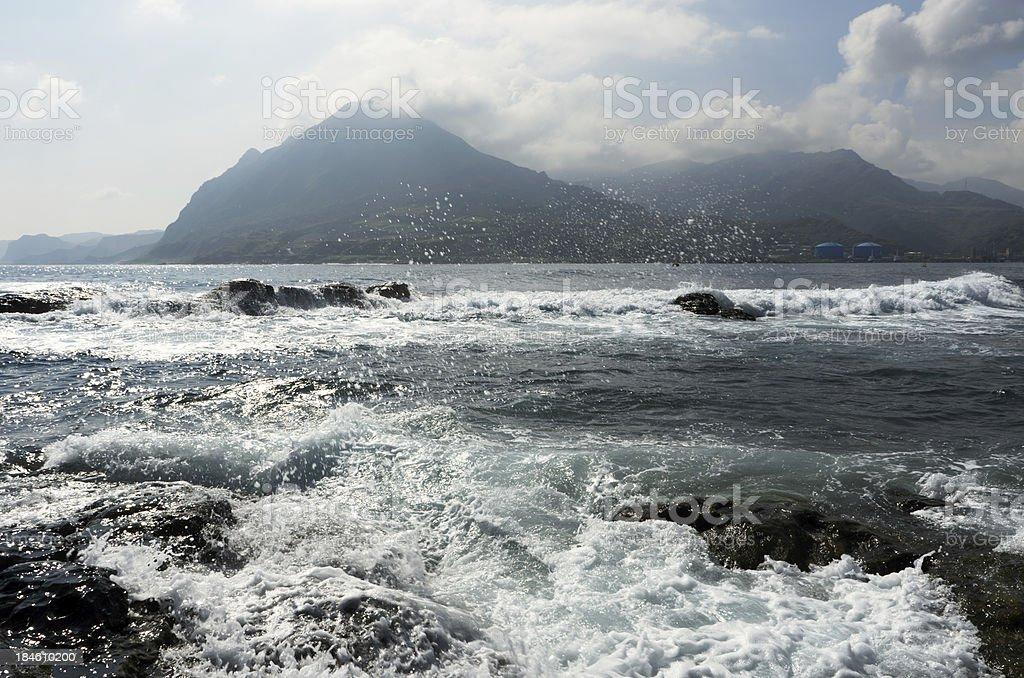 Landscape of ocean stock photo