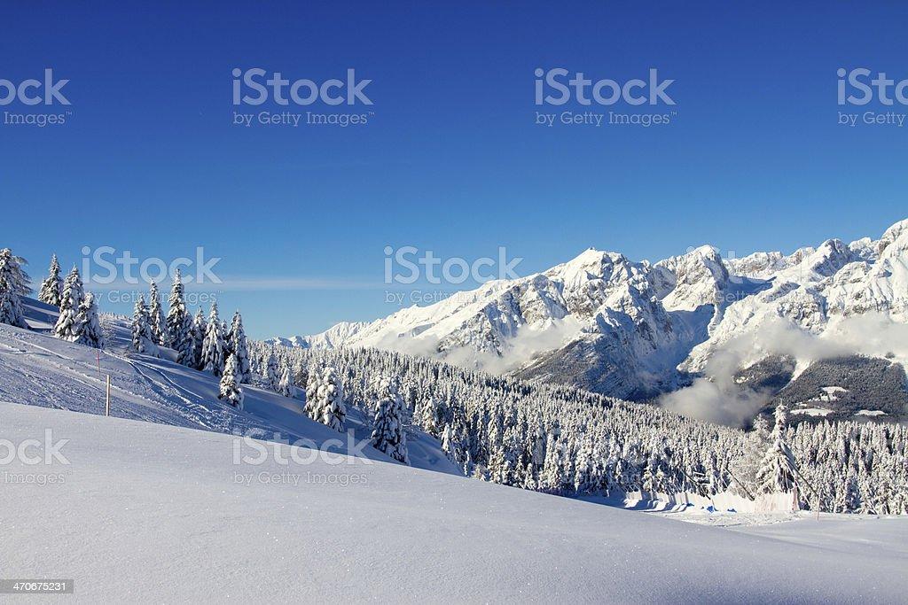 landscape of Paganella, Trento, Italy stock photo