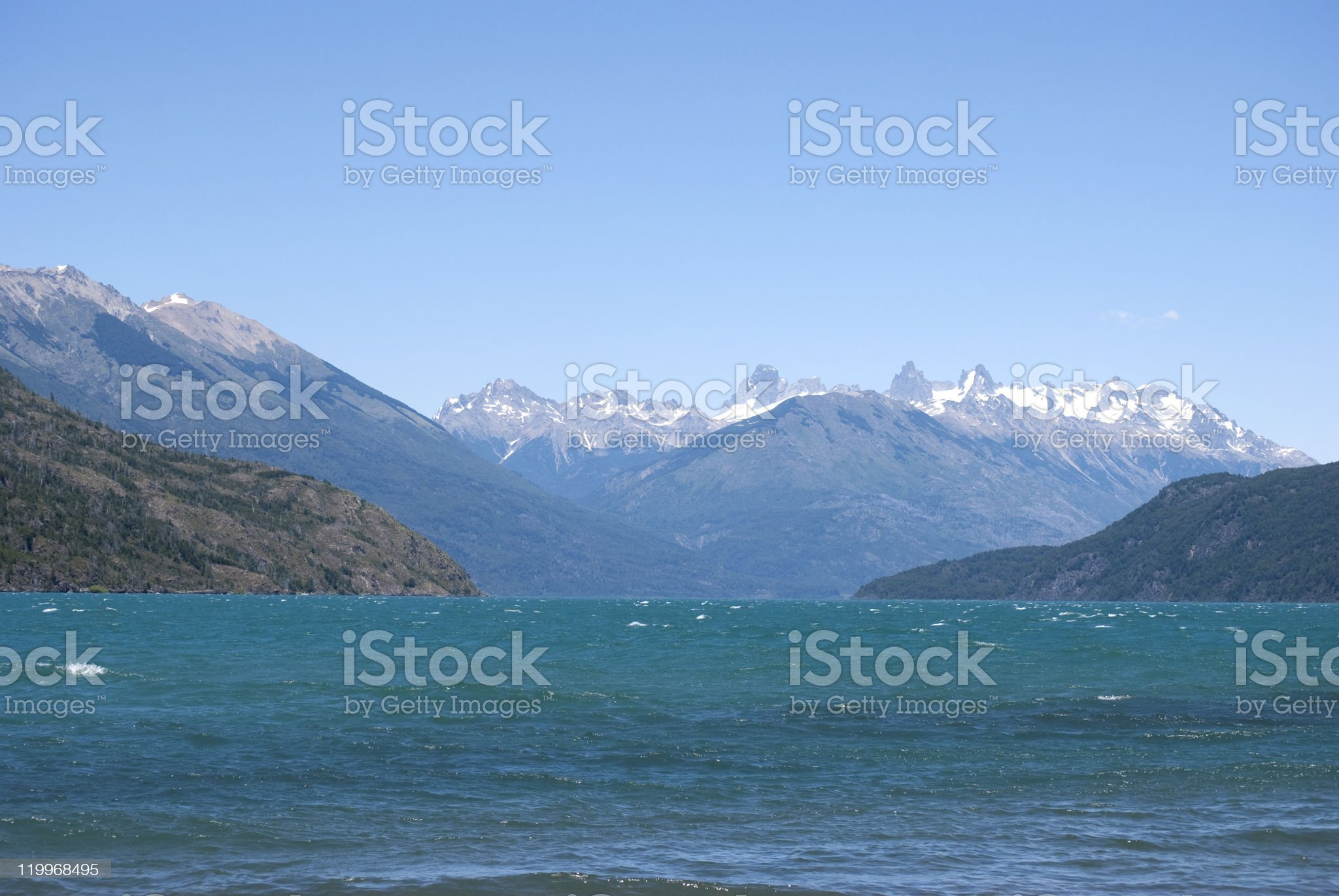 landscape of Patagonia Argentina royalty-free stock photo