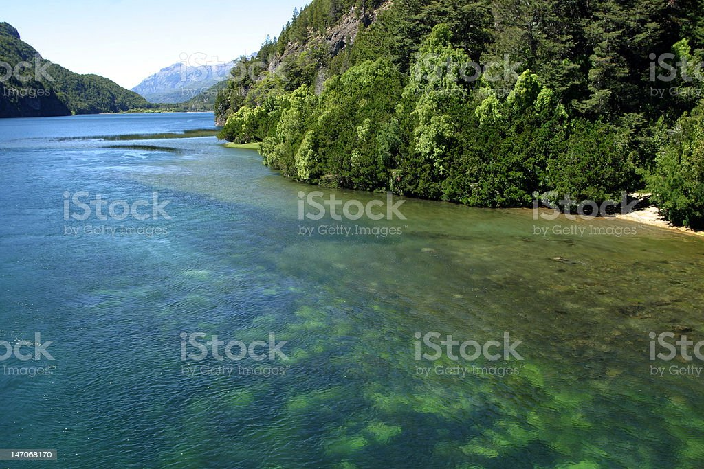 Landscape of Patagonia, Argentina stock photo