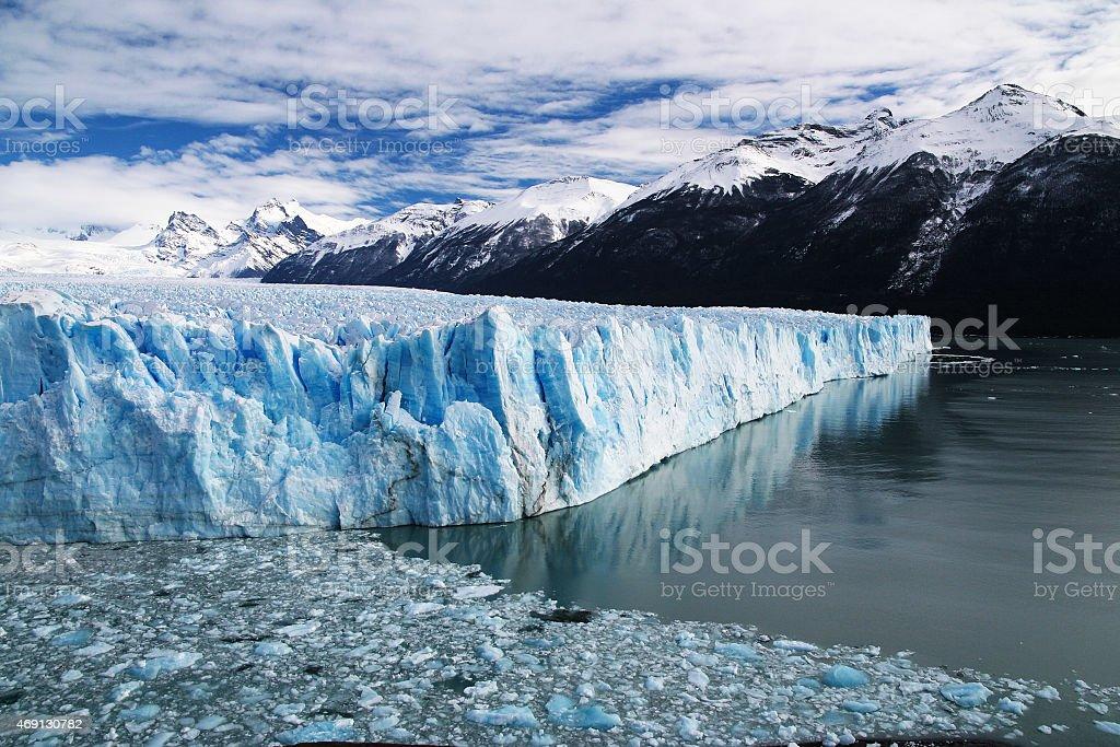 Landscape of Perito Moreno Glacier in Patagonia Argentina stock photo