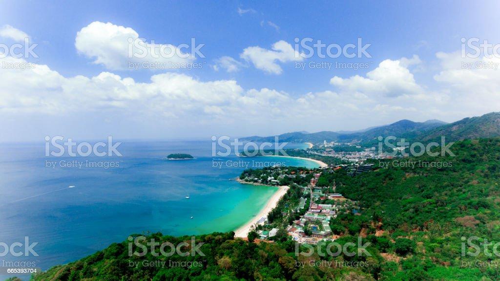 Landscape of Phuket View Point, one of landmark in Phuket stock photo