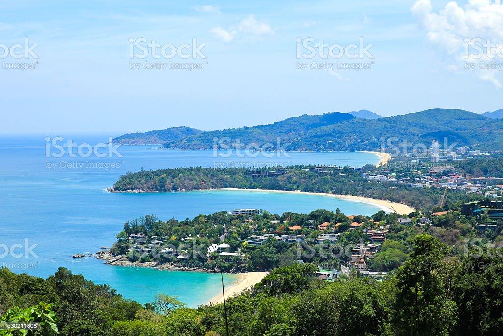 Landscape of Phuket view point,Thailand. stock photo