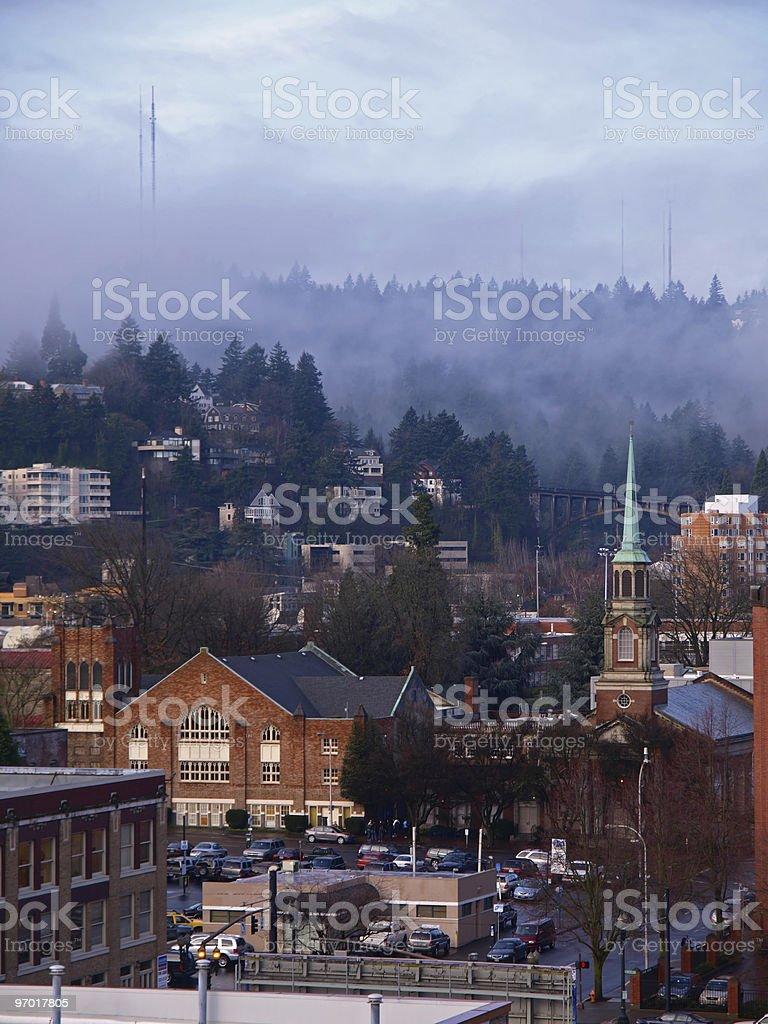 Landscape of Portland stock photo