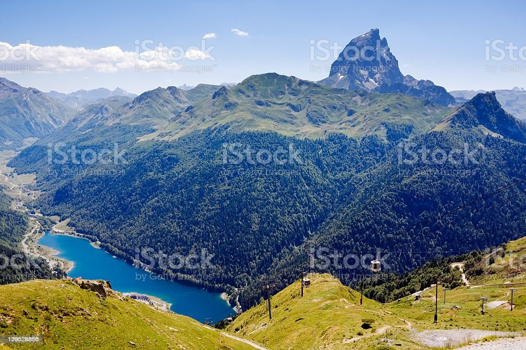 Landscape of Pyrenees (France) stock photo