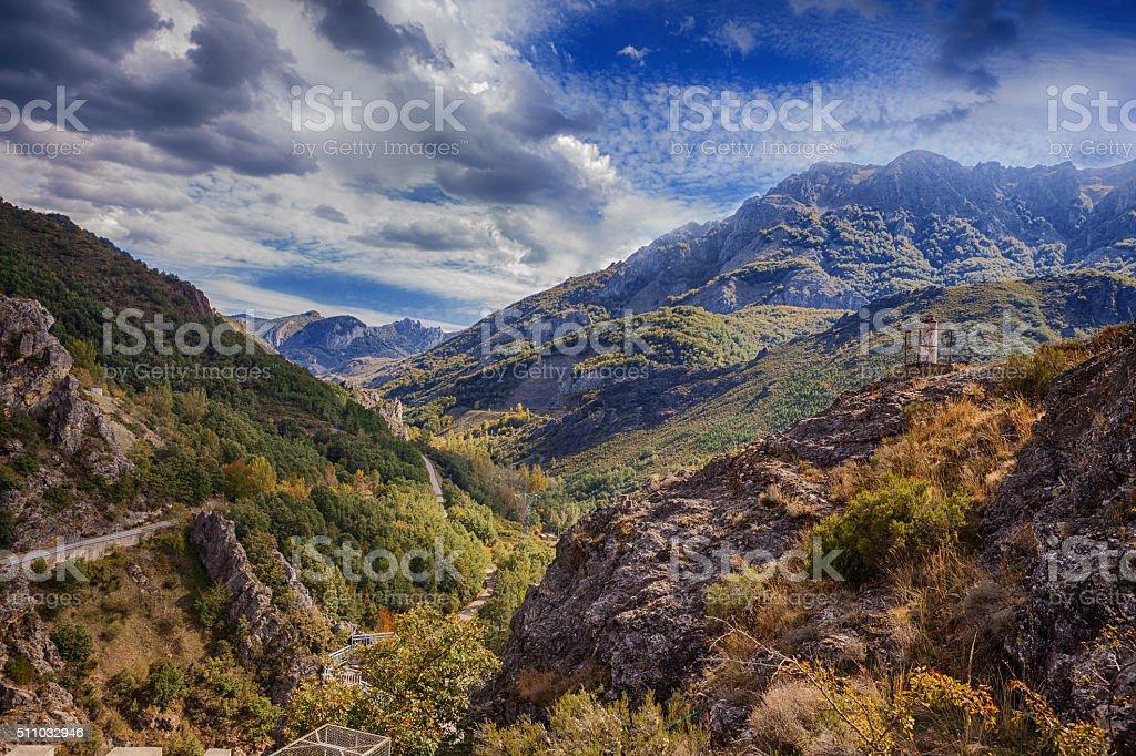 Landscape of Riano (Leon-Spain) stock photo