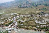 Landscape of rice terraces on the outskirts of Lao Cai