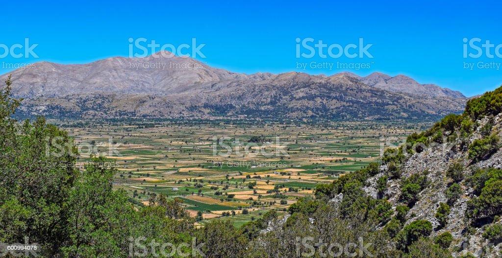 Landscape of rural Crete island stock photo