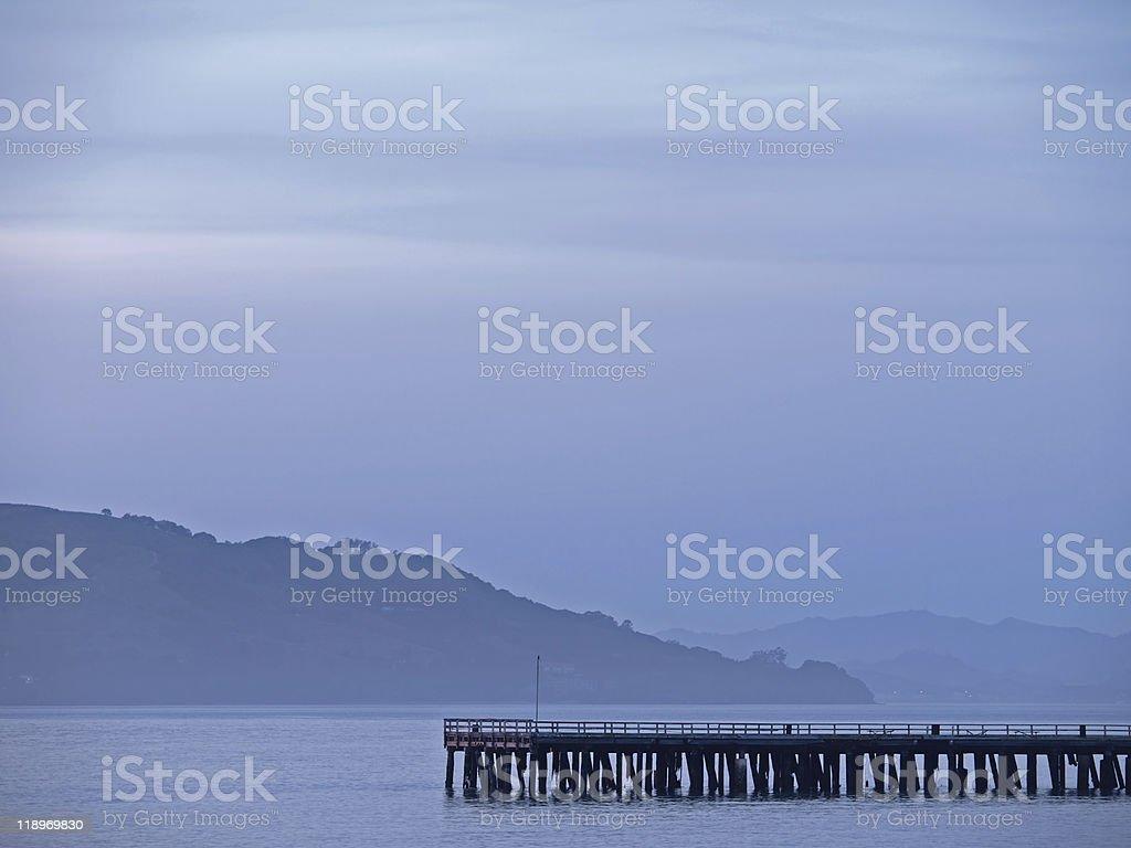Landscape of San Francisco Bay royalty-free stock photo