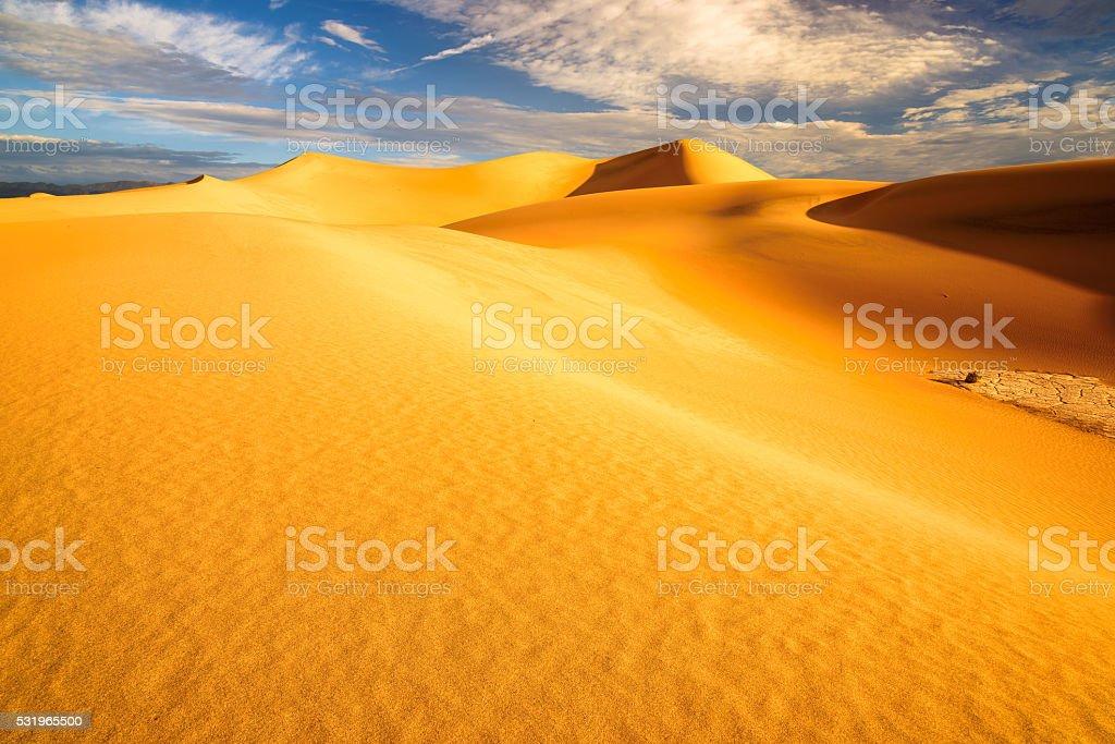 Landscape of sand dunes stock photo