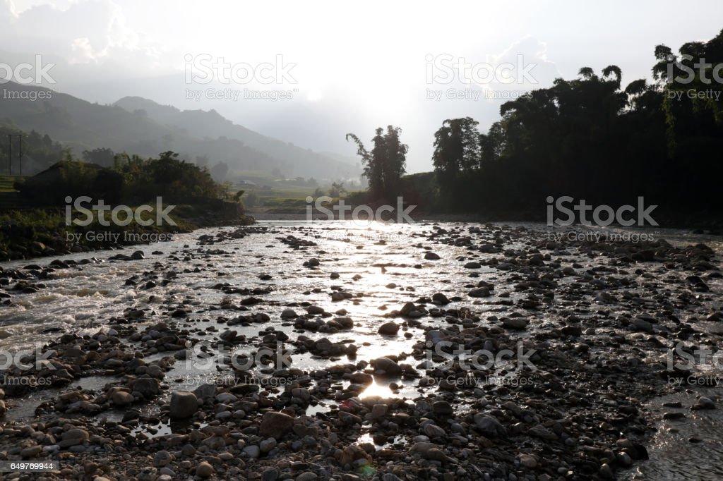 Landscape of Sapa, Vietnam stock photo