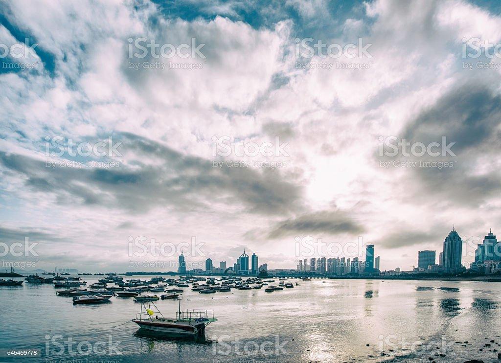 landscape of Seaside city, Qingdao, China stock photo