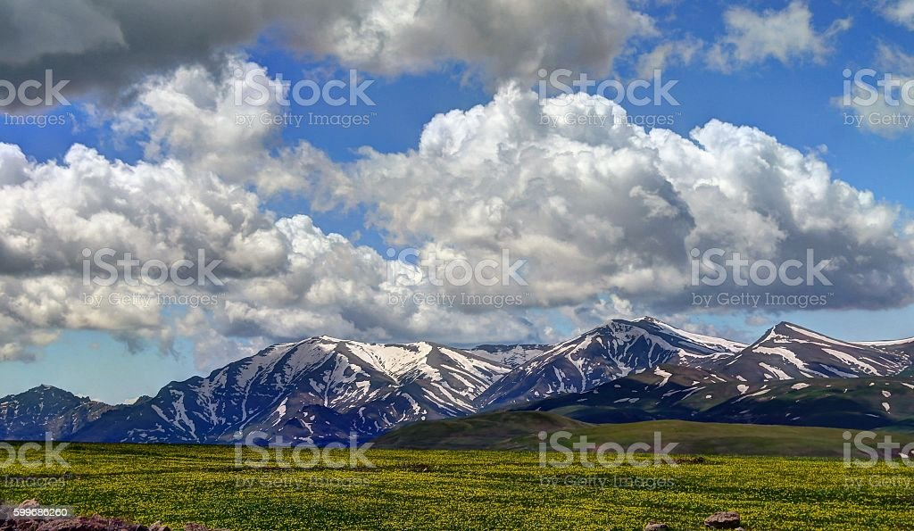 Landscape of Selim pass, Armenia stock photo
