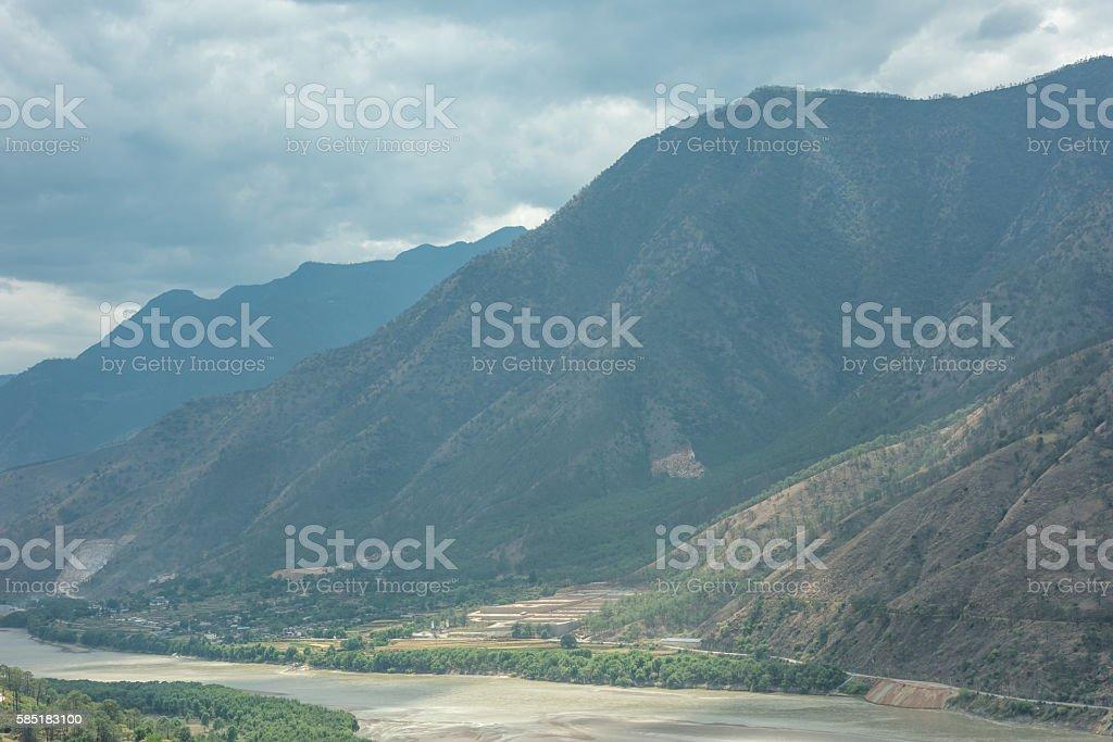 Landscape of Shangri-La ,China stock photo