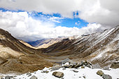 Landscape of Snow mountains in Leh, Ladakh in India