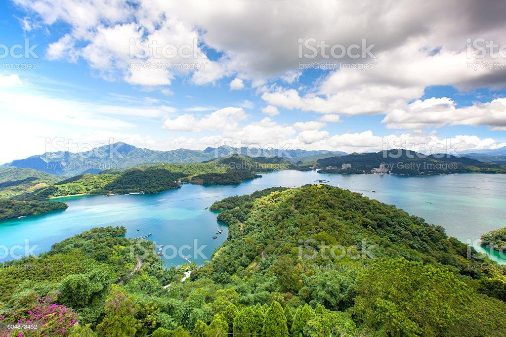 Landscape of sun moon lake stock photo