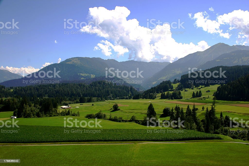 Landscape of Switzerland farmland royalty-free stock photo