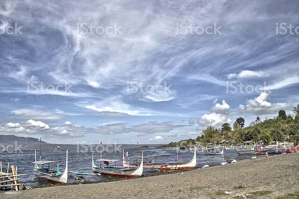 Landscape of Taal Lake, Philippines. stock photo