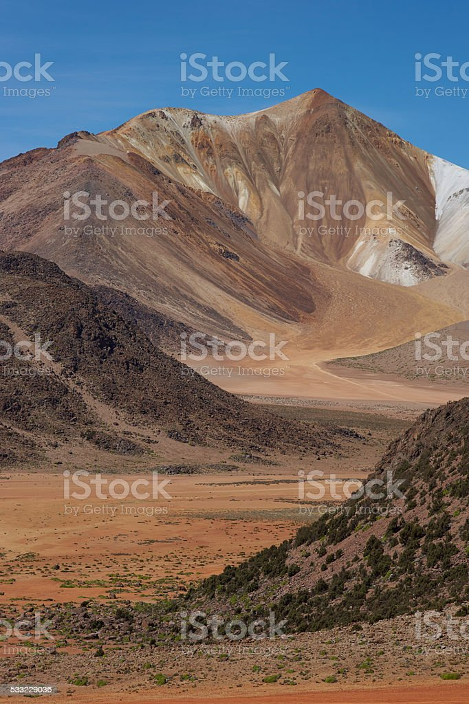 Landscape of the Altiplano stock photo