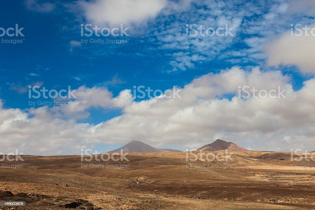 landscape of the Canary Islands stock photo
