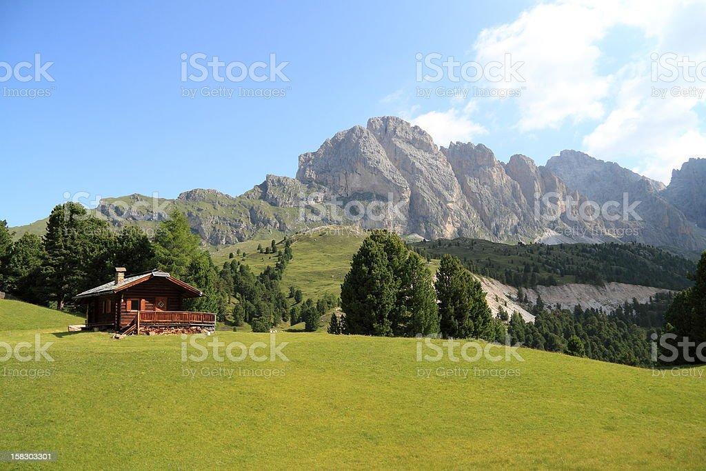 landscape of the Dolomites stock photo