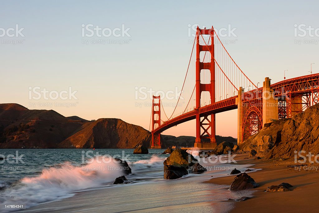 Landscape of the Golden Gate Bridge royalty-free stock photo