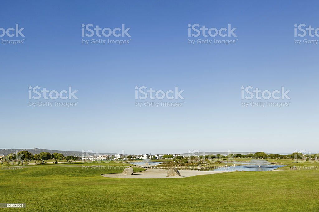 Landscape of the golf course in Langebaan. royalty-free stock photo