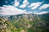 Landscape of the Gorges Du Verdon in France