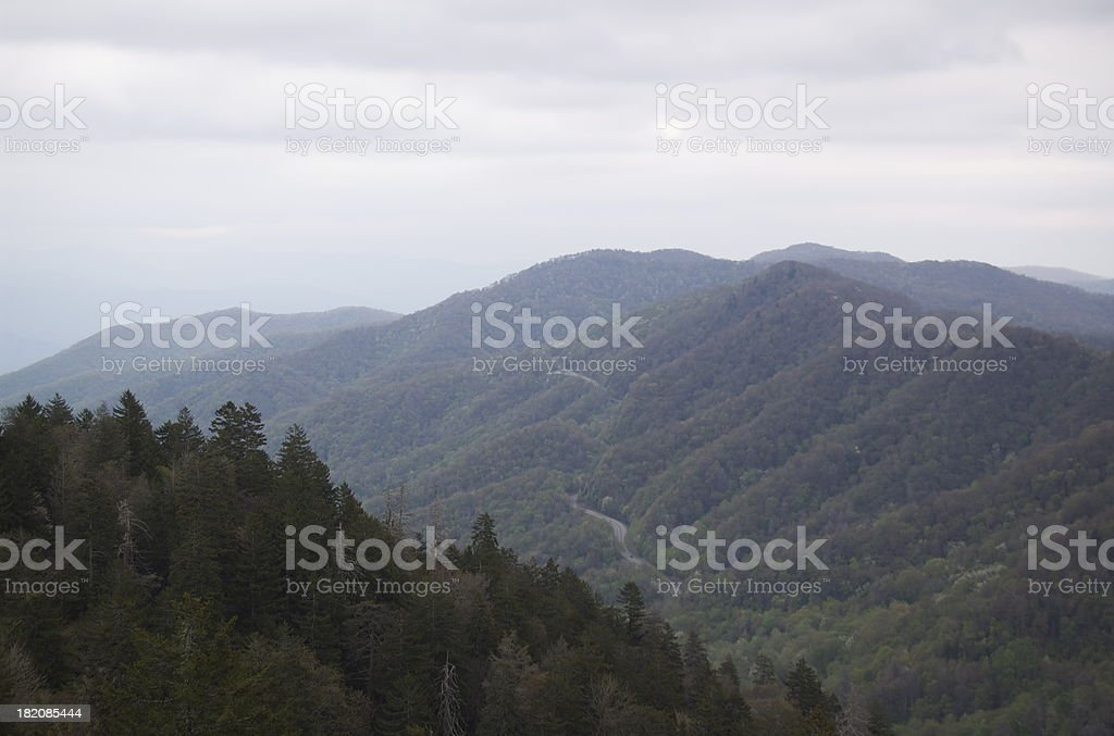Landscape of the Great Smoky Mountains royalty-free stock photo