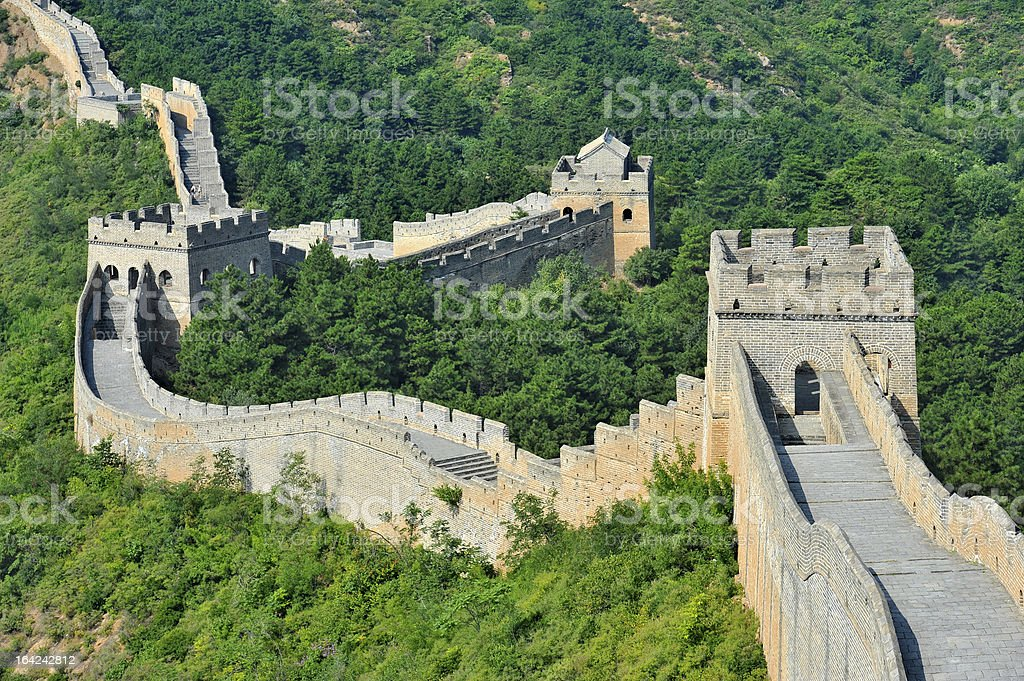Landscape of the Great Wall of China stock photo