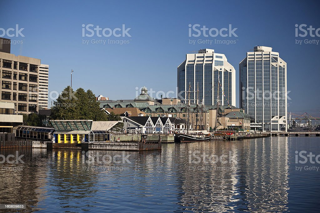 Landscape of the Halifax Waterfront stock photo
