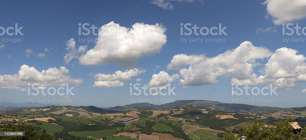 Landscape of the Hills stock photo